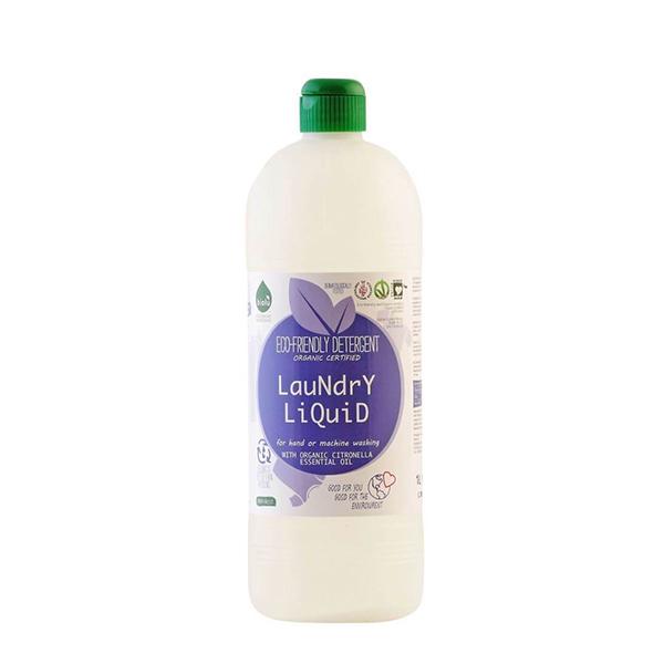 Detergent lichid pentru rufe albe si colorate - lamaie ECO Biolu - 1litru