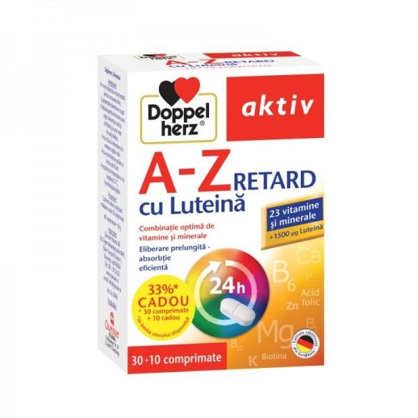 Aktiv A-Z depot cu luteina Doppelherz - 30 capsule + 10 cadou