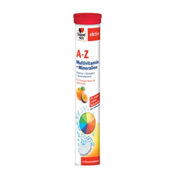 Aktiv A-Z Multivitamine + Minerale Doppelherz - 15 comprimate efervescente