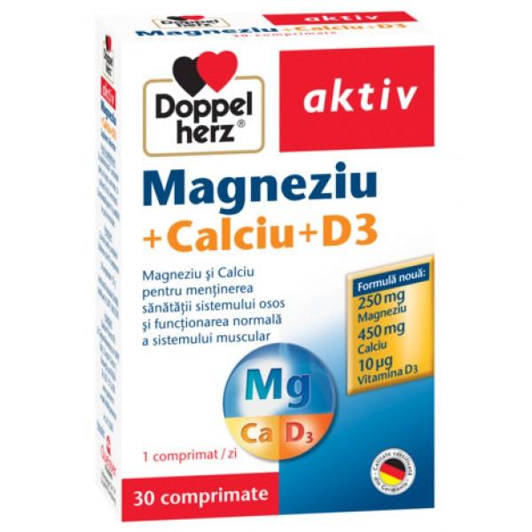 Aktiv Magneziu + Calciu + D3 Doppelherz - 30 capsule