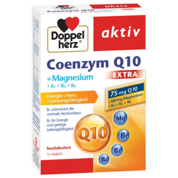 Aktiv Coenzima Q10 Extra + Magneziu + B1 + B5 + B6 Doppelherz - 30 capsule