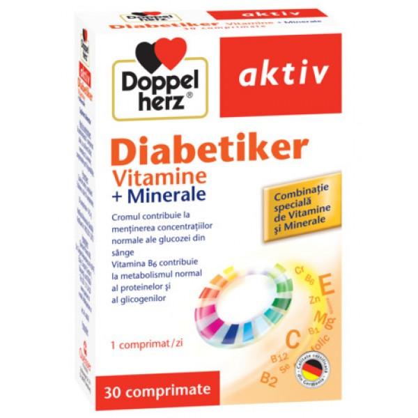 Aktiv Diabetiker Vitamine + Minerale Doppelherz - 30 capsule + 10 cadou