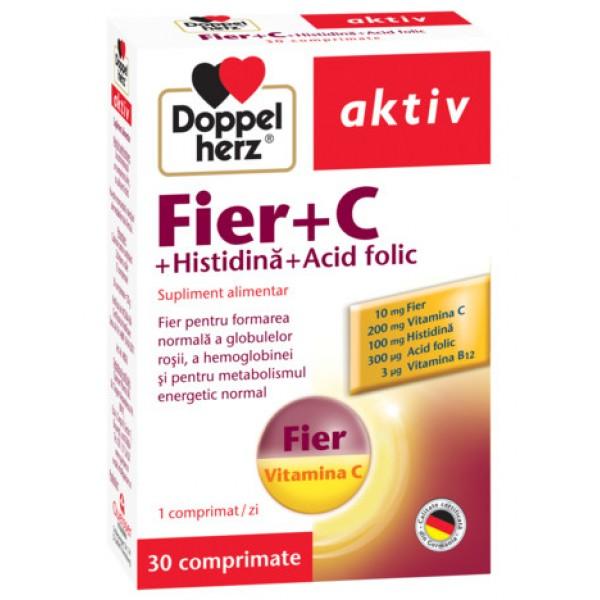 Aktiv Fier + C + Histidina + Acid folic Doppelherz - 30 capsule