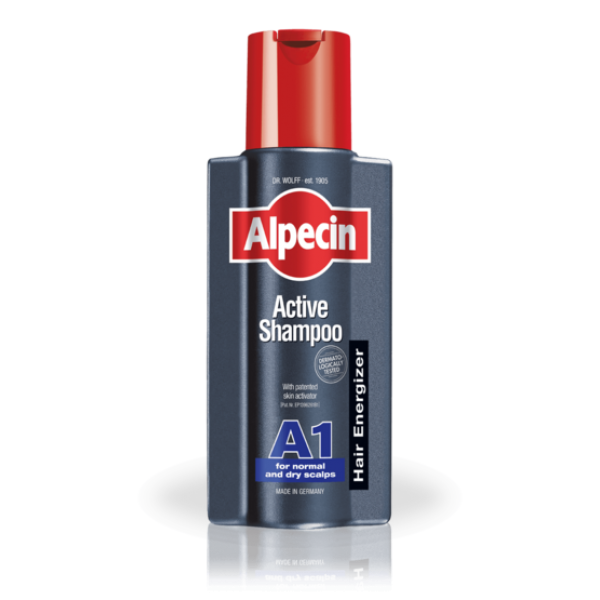 Sampon A1 Activ pentru scalp normal/uscat Alpecin - 250 ml