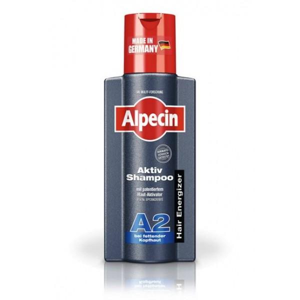Sampon A2 activ pentru scalp gras Alpecin  - 250 ml