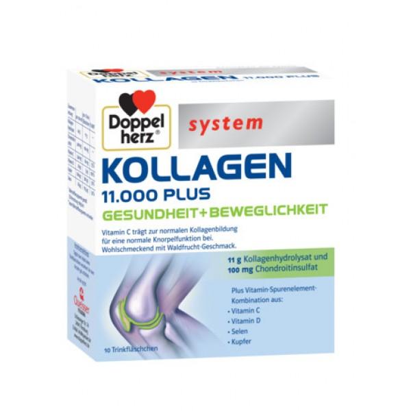 System Kollagen 11.000 Plus (10 flacoane) Doppelherz - 250 ml