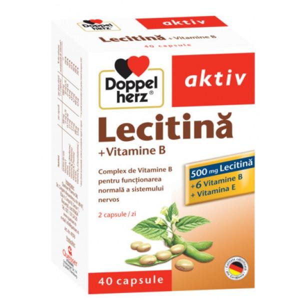 Aktiv Lecitina + vitamine B+E Doppelherz - 40 capsule