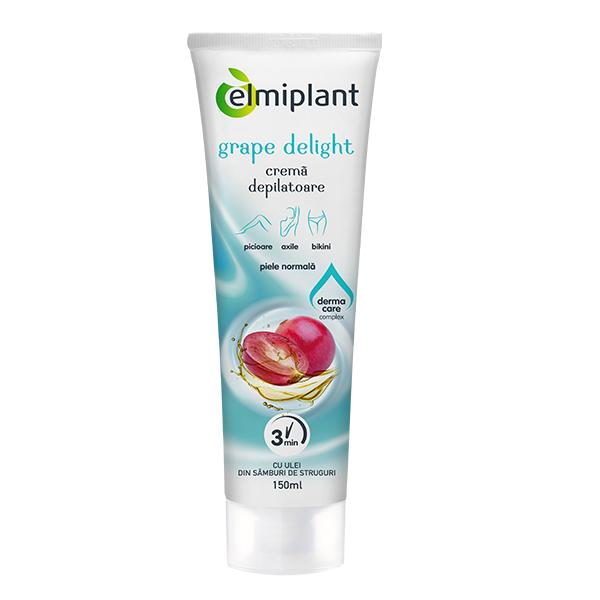 Crema depilatoare Grape Delight (piele normala) Elmiplant - 150 ml