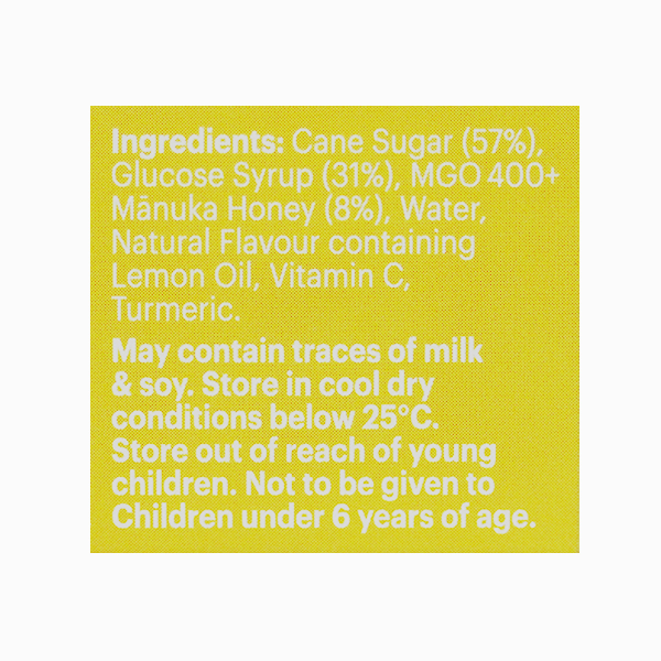Bomboane Manuka MGO (400+) cu lamaie Manuka Health - 65 g