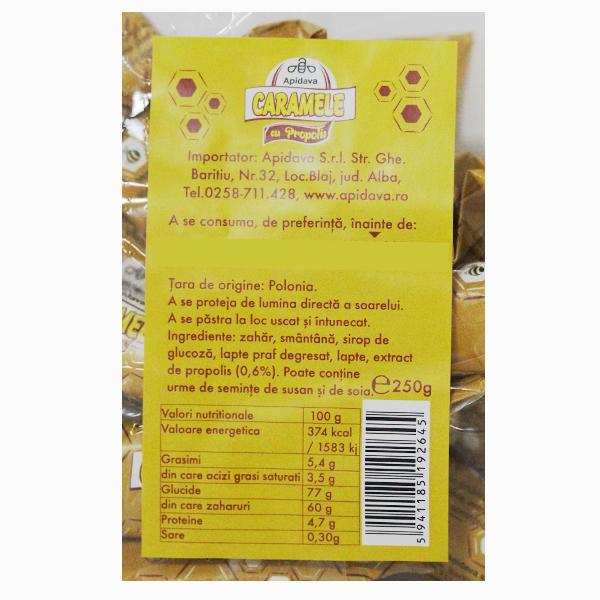 Caramele cu propolis Apidava - 250 g