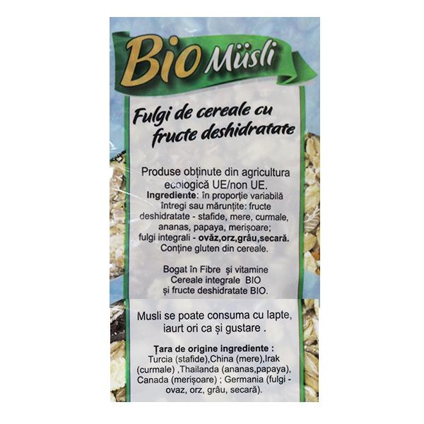 Fulgi cereale cu fructe (muesli) BIO Driedfruits - 500 g