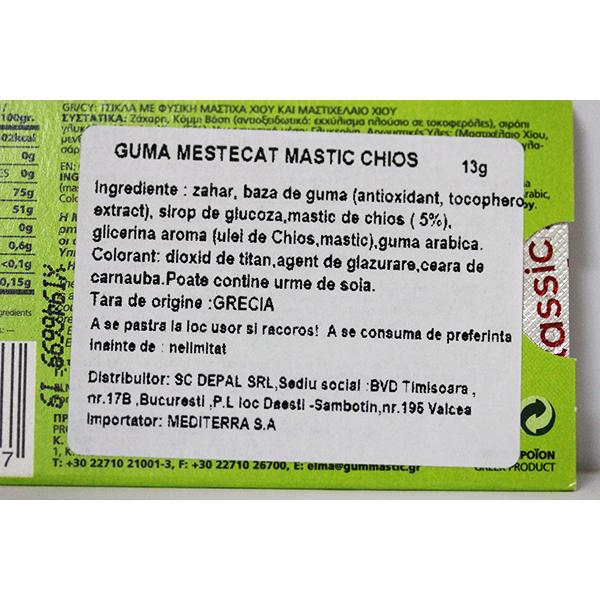 Guma de mestecat mastic Classic - 13 g