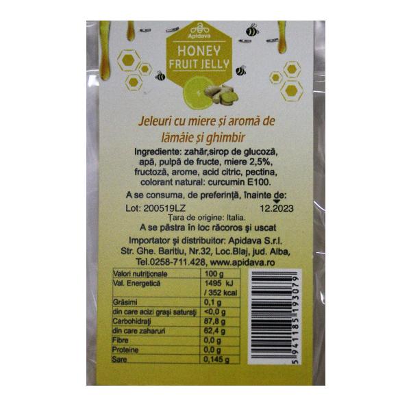 Jeleuri cu miere, lamaie si ghimbir Apidava - 100 g