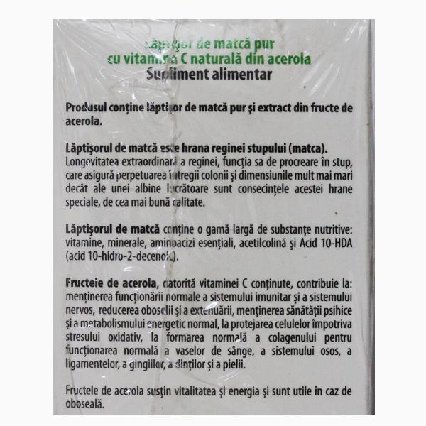 Laptisor de matca cu vitamina C 25 g + Laptisor de matca cu vitamina C 10 g (Pachet) Albina Carpatina