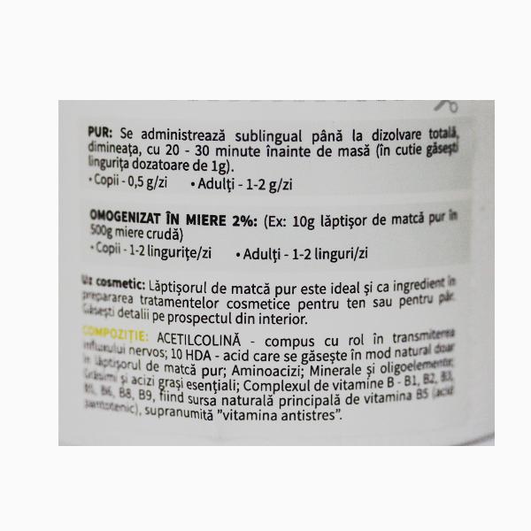 Laptisor de matca pur (crud) Apiland - 10 g
