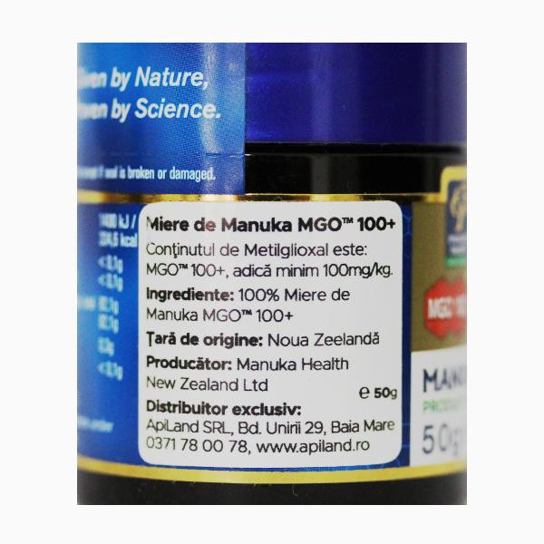 Miere Manuka MGO (100+) Manuka Health - 50 g