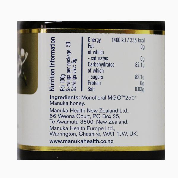 Miere Manuka MGO (250+) Manuka Health - 250 g