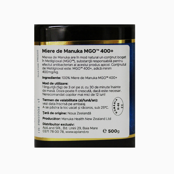 Miere Manuka MGO (400+) Manuka Health - 500 g