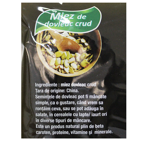 Miez dovleac crud Driedfruits - 500 g