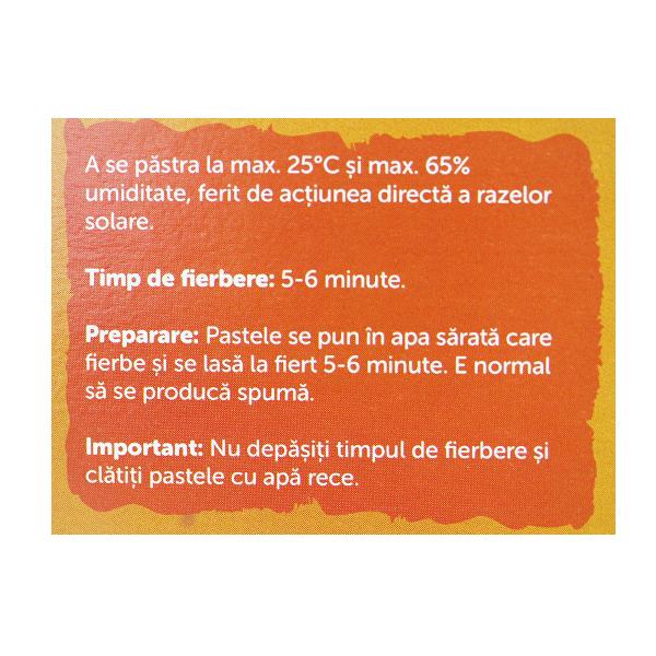 Paste penne cu 20% morcovi proaspeti si in auriu (fara gluten) BIO Petras Bio - 200 g
