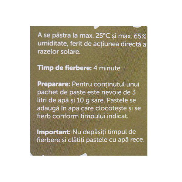 Paste tagliatelle din grau integral BIO Petras Bio - 250 g