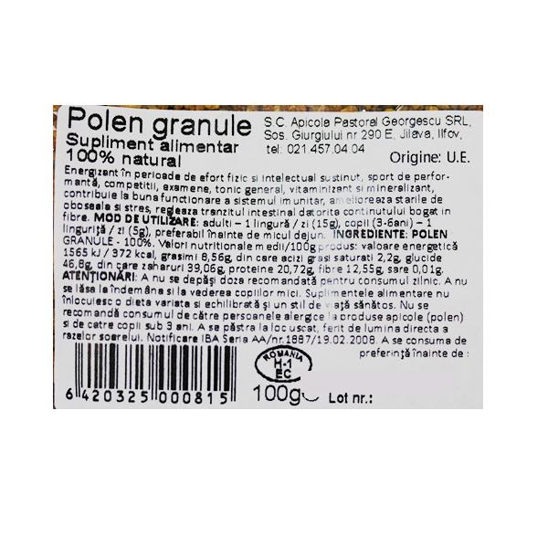 Polen uscat granulat Albina Carpatina - 100 g