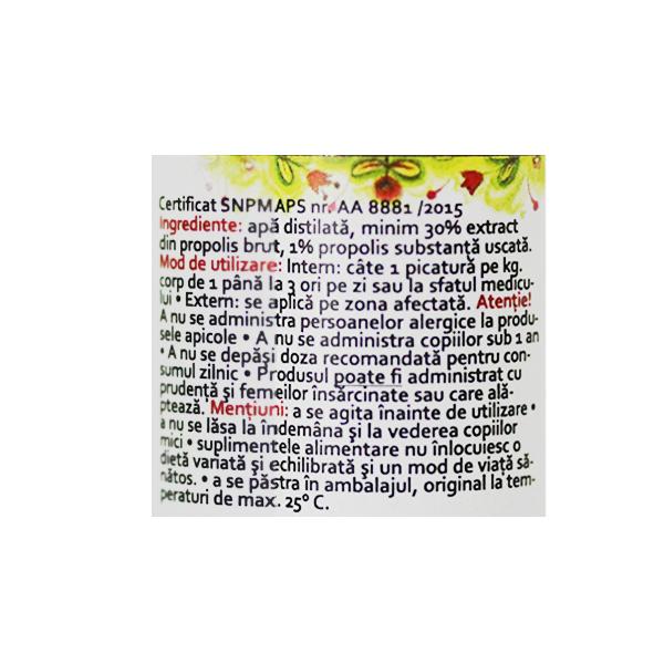 Propolis apos din stup (fara alcool) Prisaca Transilvania - 10 ml