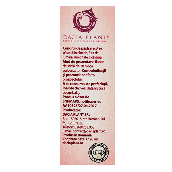 Pufy Puf Propolis si echinacea - spray Ingerasul Dacia Plant - 20 ml