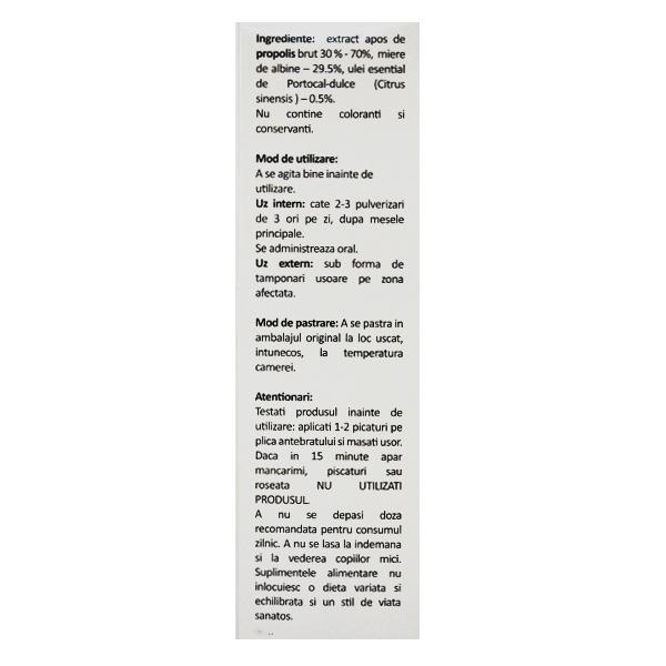 Spray de gat Api Junior cu propolis (fara alcool) Albina Carpatina - 20 ml