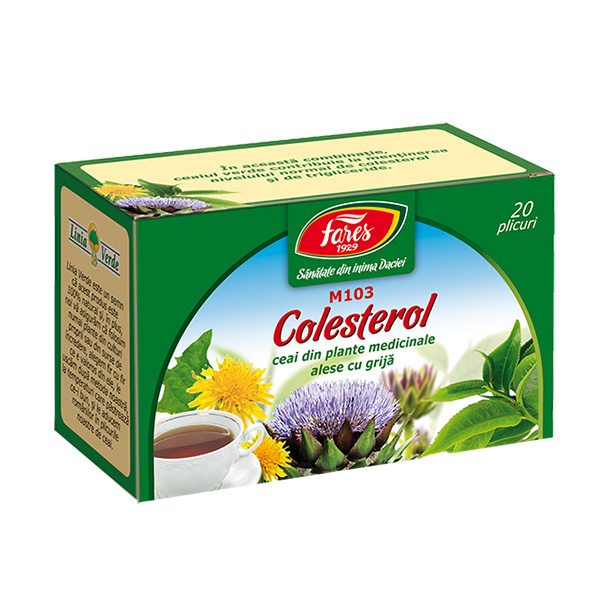 Ceai colesterol (20 pliculete) Fares - 30 g