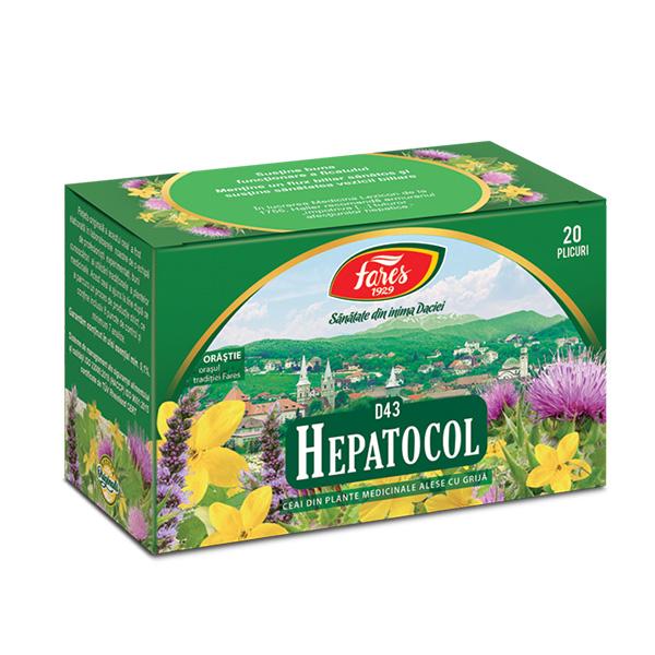 Ceai hepatocol (20 pliculete) Fares - 30 g