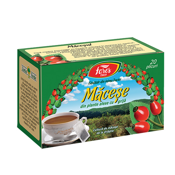 Ceai macese (20 pliculete) Fares - 40 g