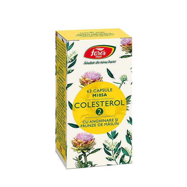 Colesterol 2 cu anghinare si frunze de maslin Fares - 63 capsule