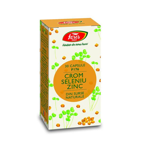 Crom+seleniu+zinc FARES - 30 capsule