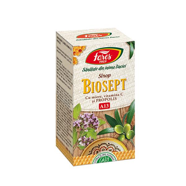 Sirop biosept cu miere si propolis FARES - 100 ml