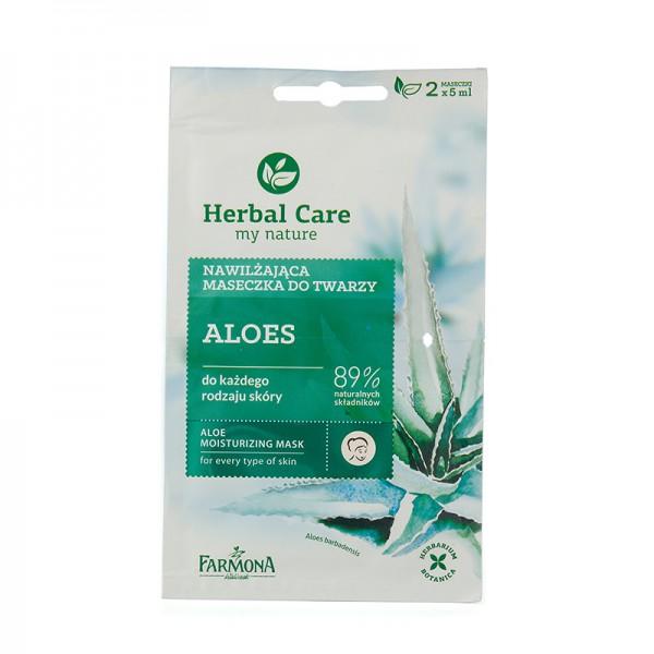 Masca hidratanta de fata cu aloe vera (2 * 5 ml) Farmona - 10 ml