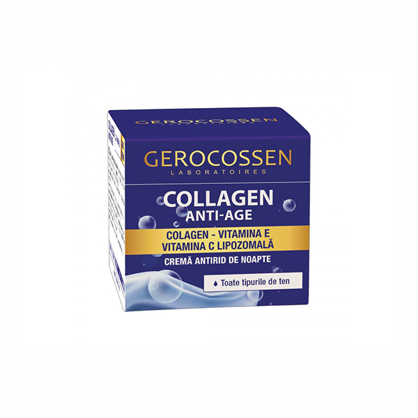 Crema antirid de noapte Collagen Anti-Age Gerocossen - 50 ml