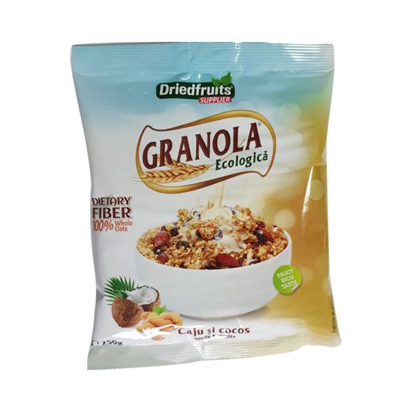 Granola cu caju si cocos (fara zahar) BIO - 250 g