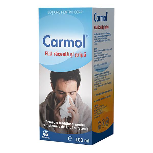Carmol Flu raceala si gripa Biofarm - 100 ml