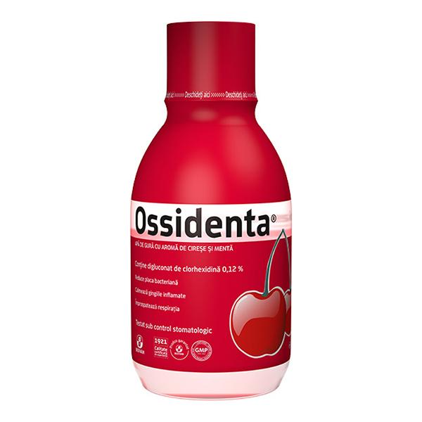 Apa de gura cu aroma de cirese si menta Ossidenta Biofarm - 250 ml