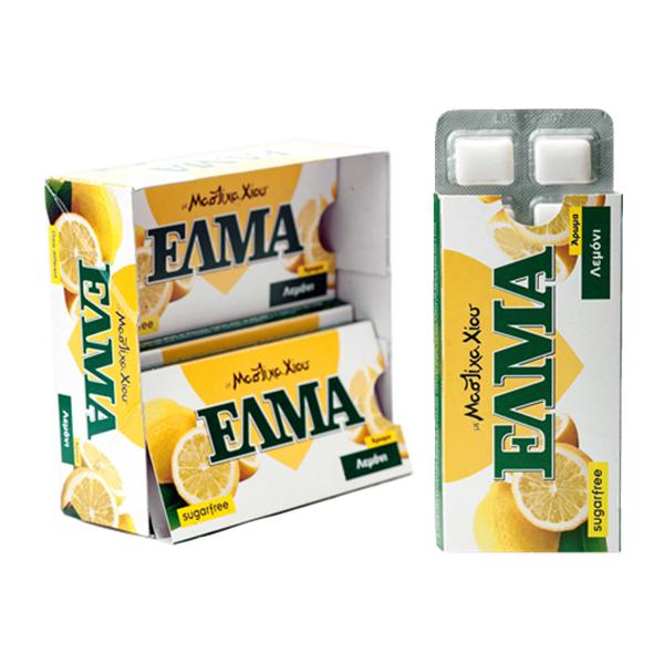 Guma de mestecat mastic Chios cu lamaie (fara zahar) - 13 g