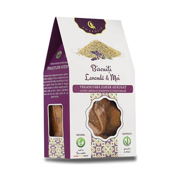 Biscuiti vegani cu lavanda si mei (fara zahar) Ambrozia - 150 g
