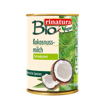 Bautura vegetala din nuca de cocos light (12%) (fara gluten) BIO - 400 ml
