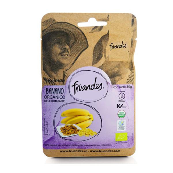 Banane deshidratate BIO Fruandes  - 30 g