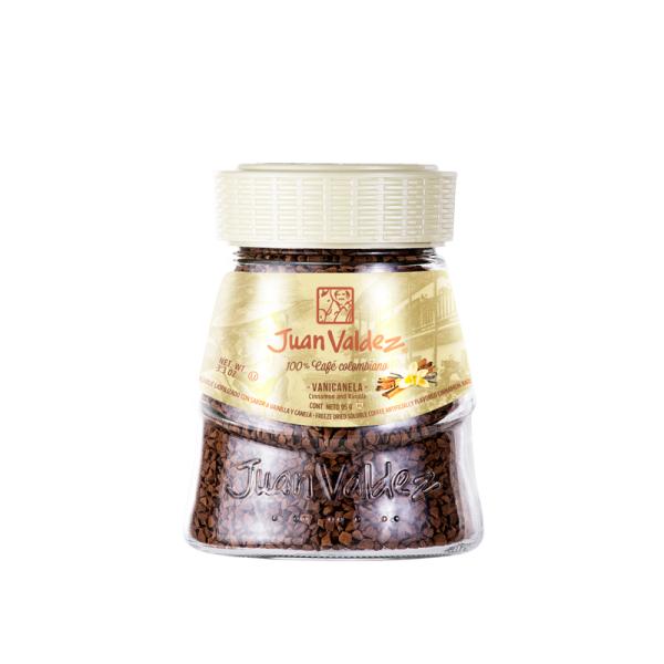 Cafea solubila cu vanilie si scortisoara Juan Valdez - 95 g