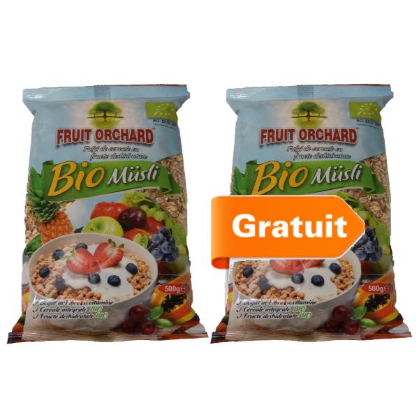 Fulgi cereale cu fructe (muesli) BIO - 500 g (Pachet 1+1 gratis)