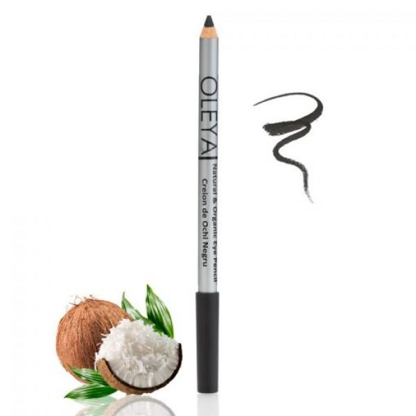 Creion de ochi negru cu ulei de cocos Oleya - 1.1 g