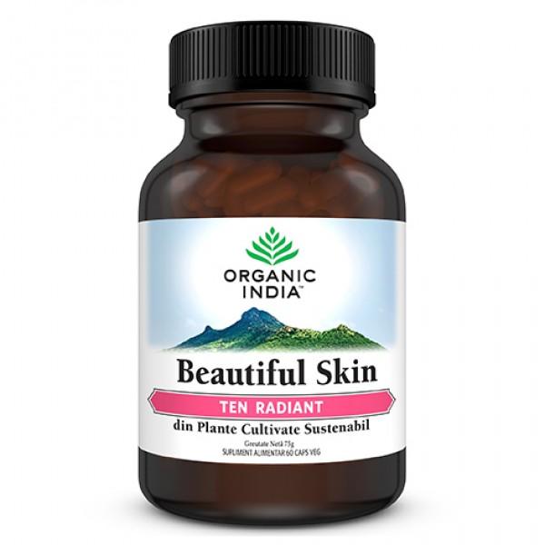 Beautiful Skin - Ten Radiant (fara gluten) Organic India - 60 cps