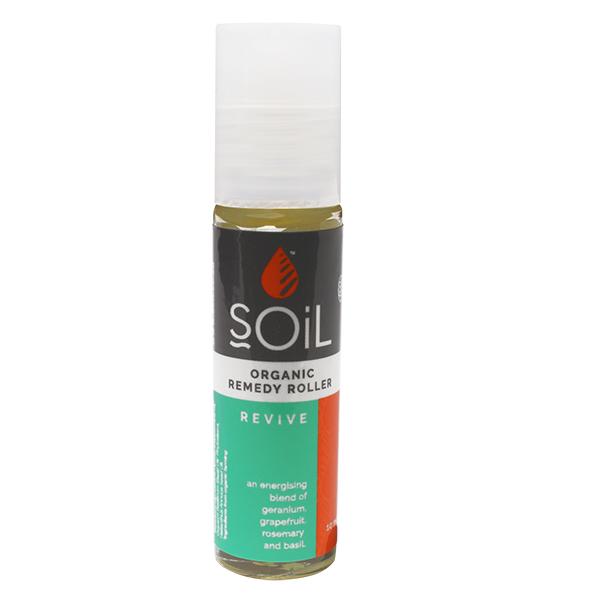 Roll-on revive cu uleiuri esentiale pure (amestec energizant, echilibrant) BIO Soil - 11 ml