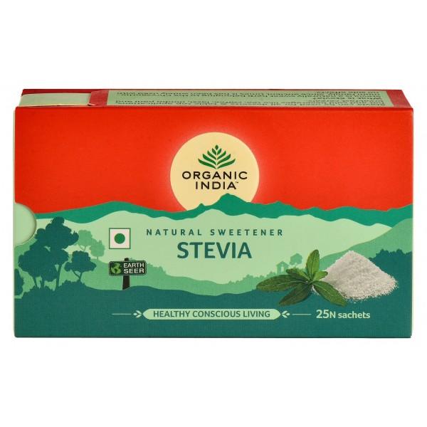 Stevia pudra Organic India (25 plicuri) - 25 g